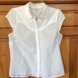 Maeve Anthropologie sheer cotton, yoked and fitted